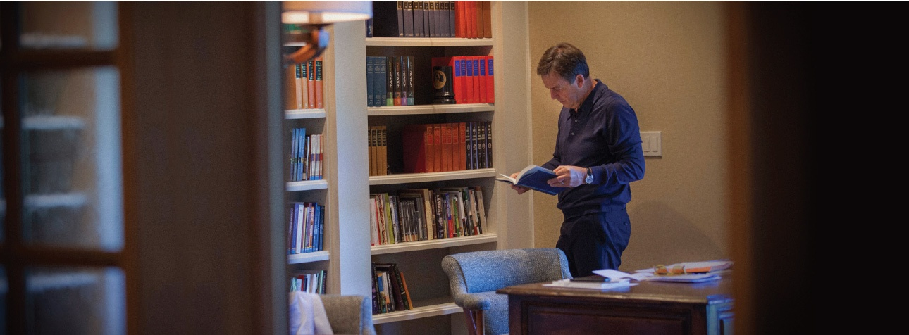 Alistair Begg in his office