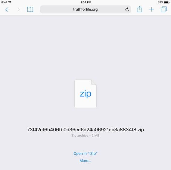 Open in iZip
