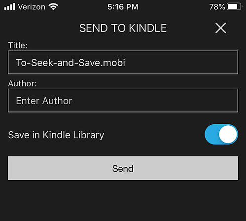 Kindle Author Field