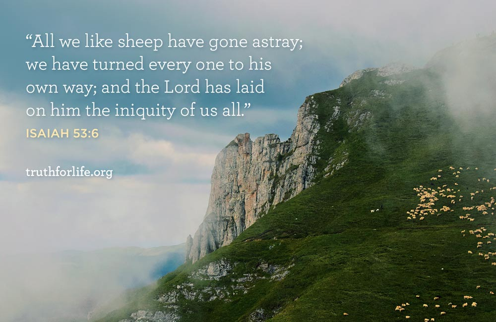 All we like sheep have gone astray; we have turned every one to his own way; and the Lord has laid on him the iniquity of us all.
