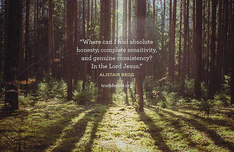 Where can I find absolute honesty, complete sensitivity, and genuine consistency? In the Lord Jesus. - Alistair Begg