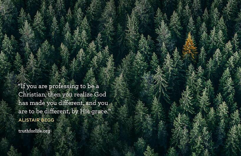 If you are professing to be a Christian, then you realize God has made you different, and you are to be different, by His grace. - Alistair Begg