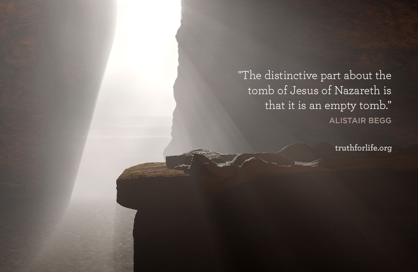 The distinctive part about the tomb of Jesus of Nazareth is that it is an empty tomb.