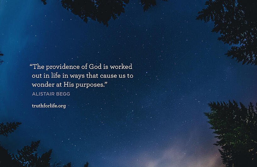 The providence of God is worked out in life in ways that cause us to wonder at His purposes. - Alistair Begg