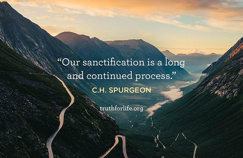 Our sanctification is a long and continued process. - C.H. Spurgeon