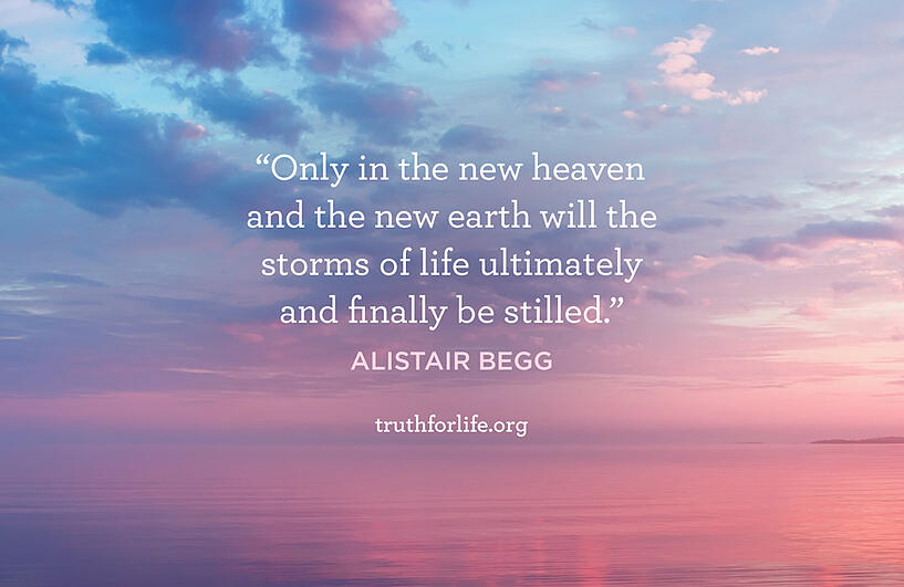 Only in the new heaven and the new earth will the storms of life ultimately and finally be stilled. - Alistair Begg