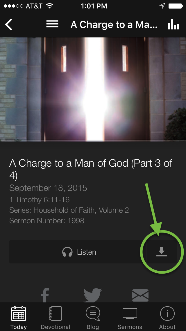 Download Truth For Life sermons free in devo app and main app
