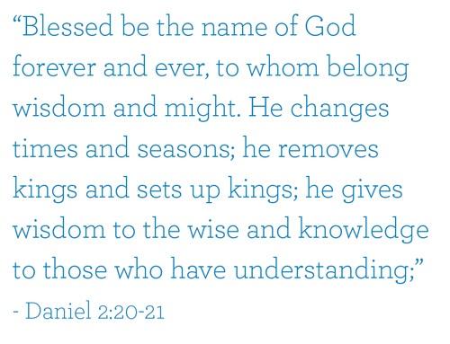 Daniel 2:20-21