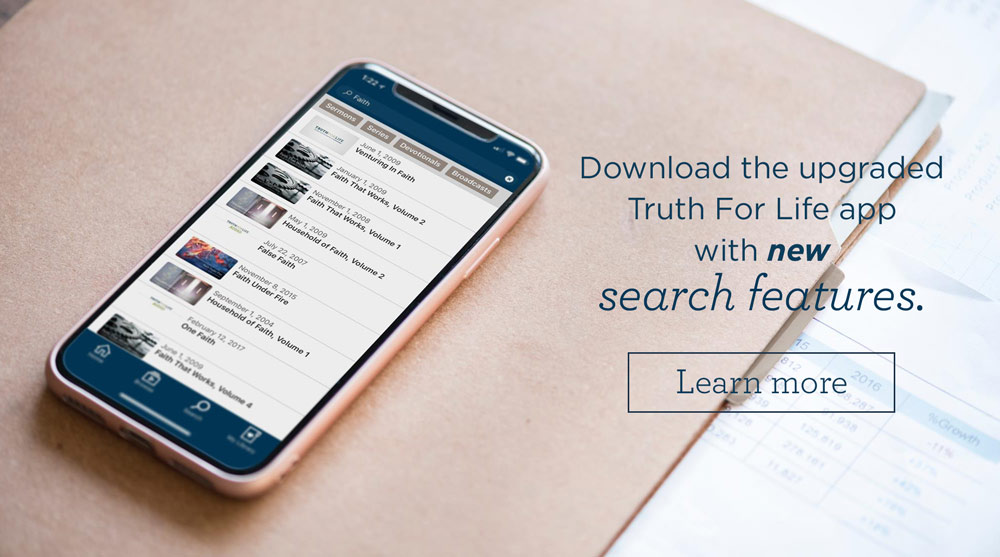 thumbnail image for New Search Feature Now Available on the Truth For Life Mobile App