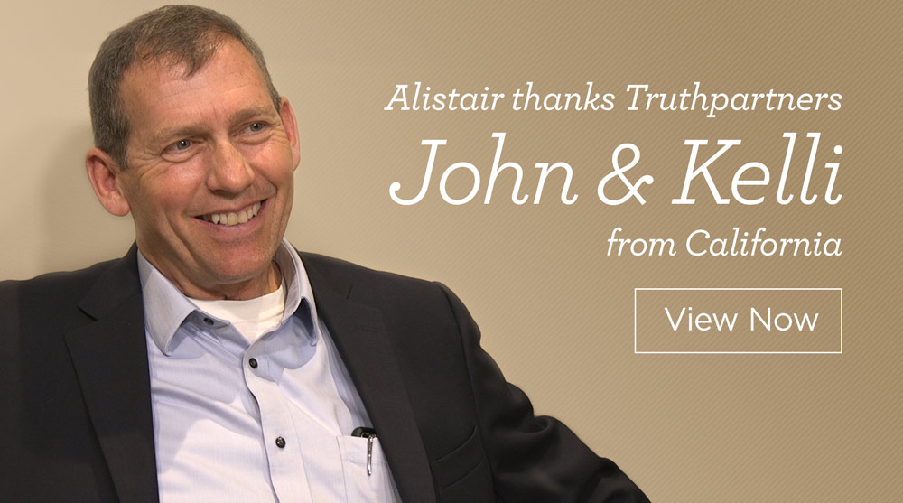 thumbnail image for Alistair Thanks Truthpartners John and Kelli from California