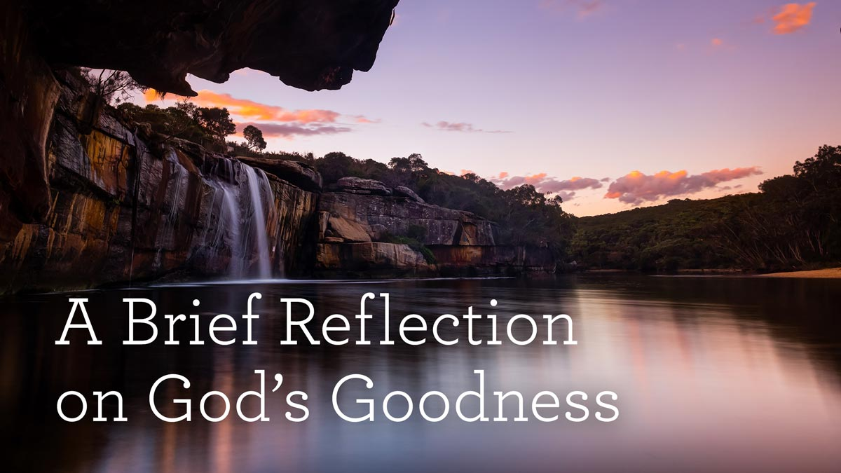 thumbnail image for A Brief Reflection on God's Goodness