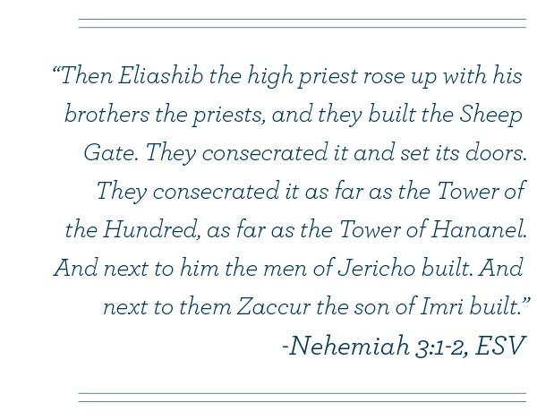 Nehemiah 3:1-2