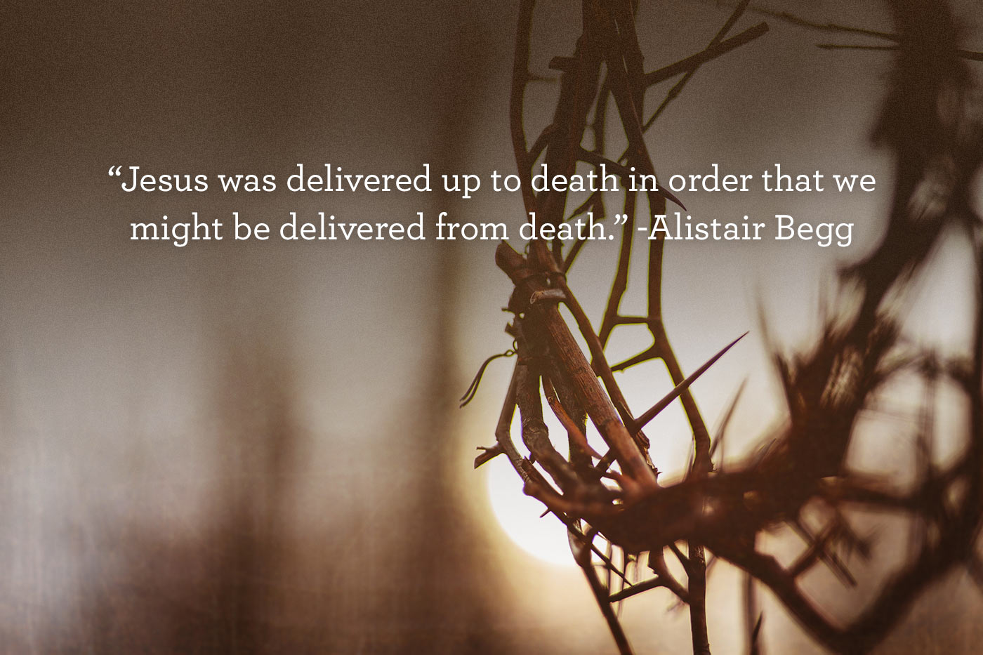 thumbnail image for Jesus was delivered to death that we might be delivered from death
