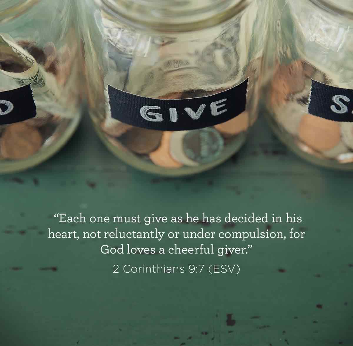 thumbnail image for God loves a cheerful giver