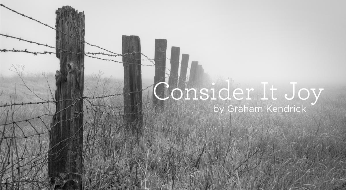 "thumbnail image for Hymn: ""Consider It Joy"" by Graham Kendrick"