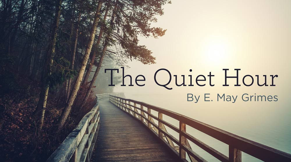 "thumbnail image for Hymn: ""The Quiet Hour"" by E. May Grimes"