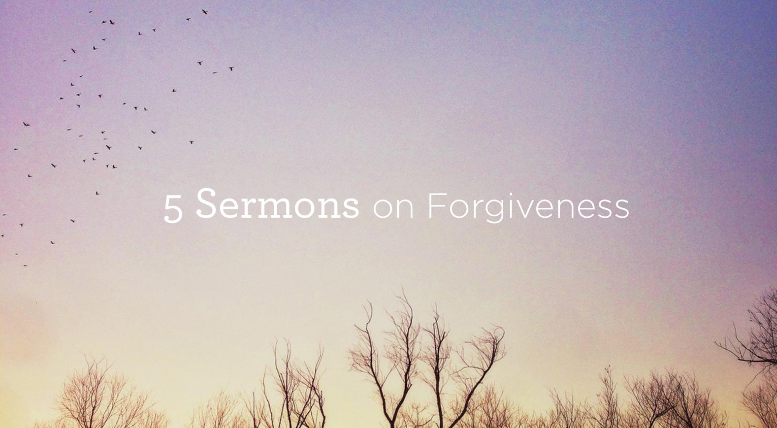 thumbnail image for Download 5 Sermons on 'Forgiveness' by Alistair Begg