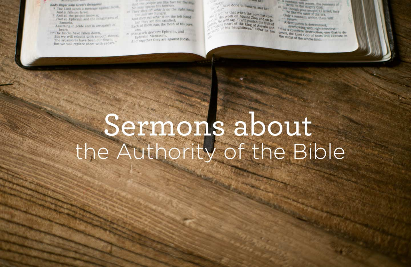 thumbnail image for Sermons about the Authority of the Bible