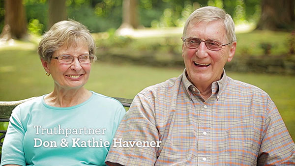 thumbnail image for Video: Don and Kathie share their Truth For Life experience...