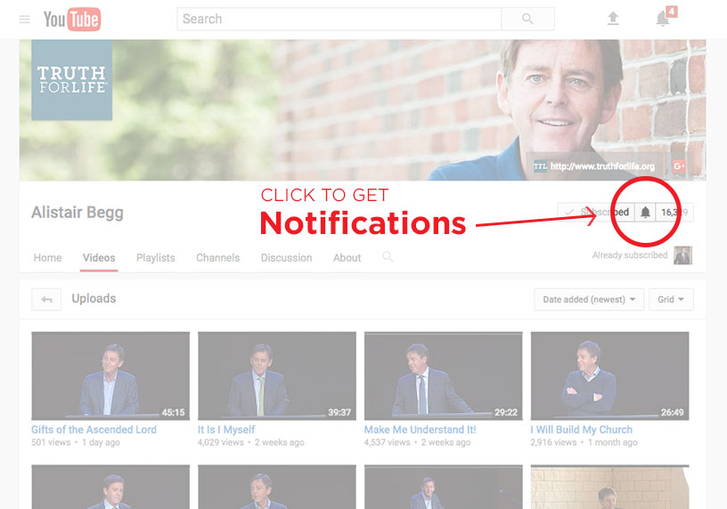 thumbnail image for Get Notified When Alistair's Sermons are Uploaded to YouTube